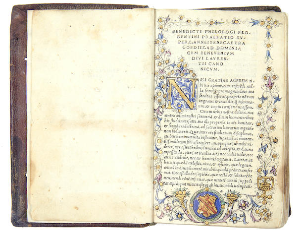 SENECA (LUCIUS ANNAEUS) Tragoediae, 1513; Euripides, 1518, 2 works in one vol.
