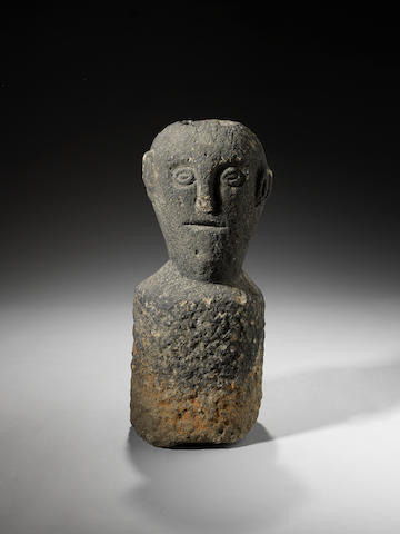 A Celtic stone head