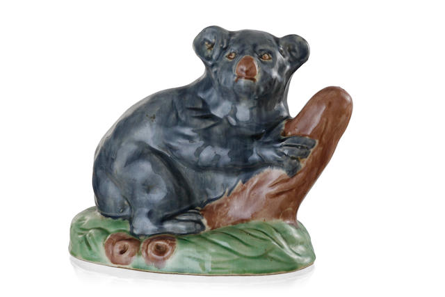 An Australian glazed earthenware koala possibly by Darbyshire Pottery, Western Australia,