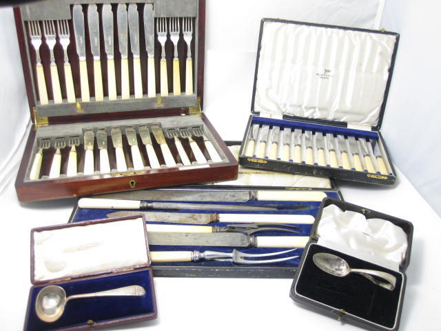 A collection of silver flatware various makers and dates  (Qty)