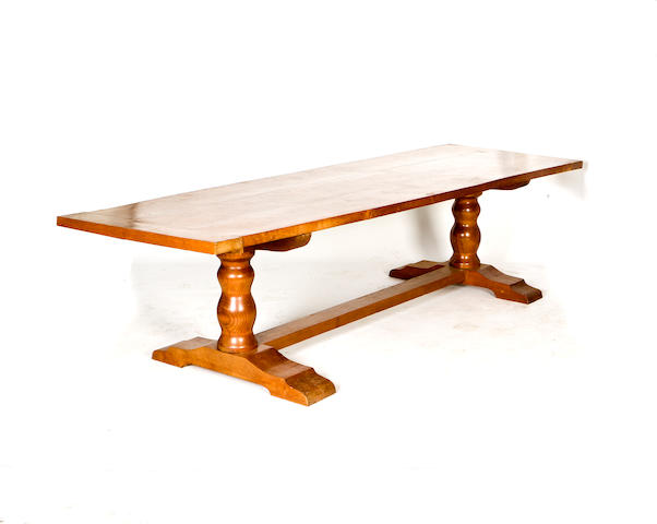 A large 20th century oak refectory style table Modern