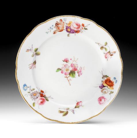 A rare Nantgarw plate, circa 1818-20