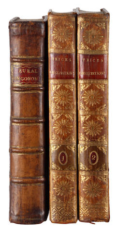 YOUNG (ARTHUR)] Rural Oeconomy: or, Essays on the Practical Parts of Husbandry, 1770; and 2 by Price (3)
