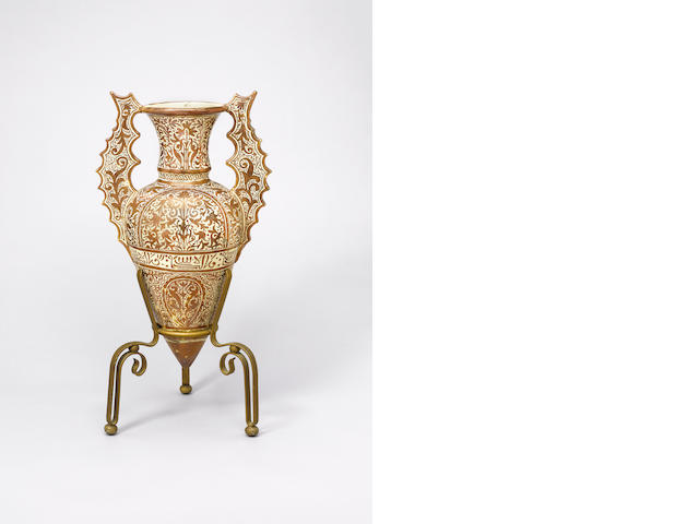 A large Hispano-Moresque lustre pottery 'Alhambra' Vase Spain, late 19th Century(2)