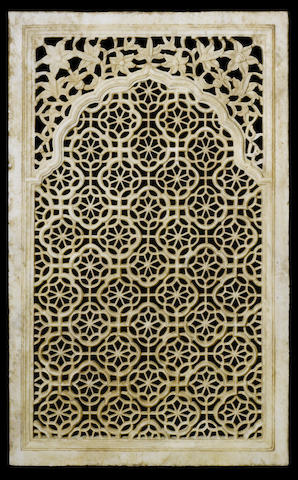A large Mughal-style marble Jali India