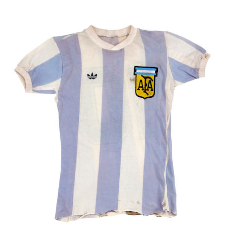 1979 World Youth Cup Argentina shirt worn by Diego Amando Maradona