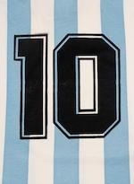 1993 Argentina shirt worn by Diego Amando Maradona