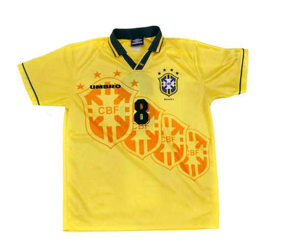 1995 Copa America final Brazil match worn Dunga shirt
