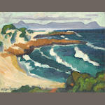 Maggie (Maria Magdalena) Laubser (South African, 1886-1973) Walker Bay from Onrus