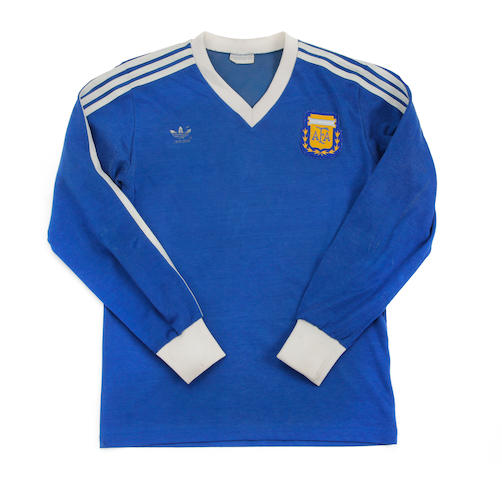 1990 Diego Maradona Argentina match worn shirt
