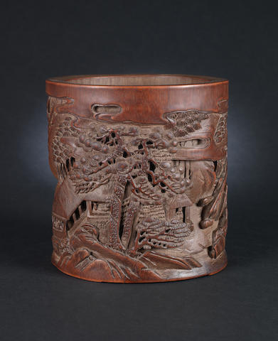 A bamboo brush pot, bitong