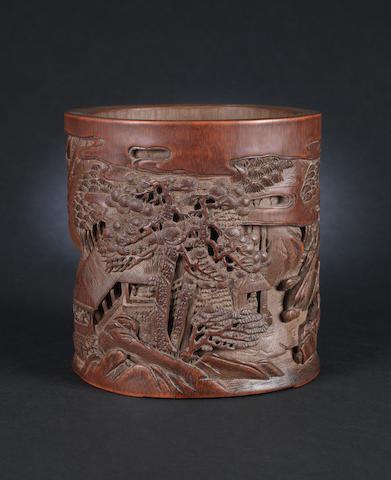 A bamboo brush pot, bitong