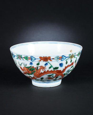 a wucai bowl Wanli mark