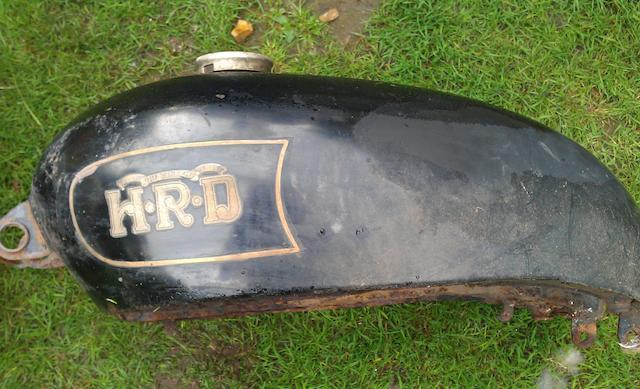 A Vincent HRD petrol tank,