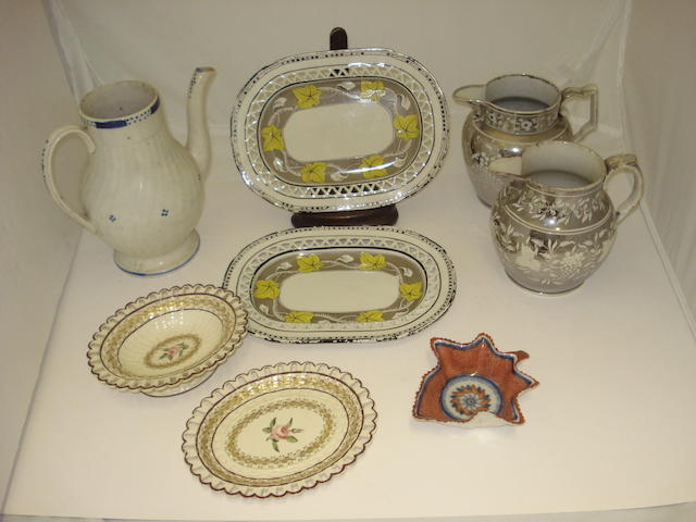 A collection of Regency pottery Early 19th century