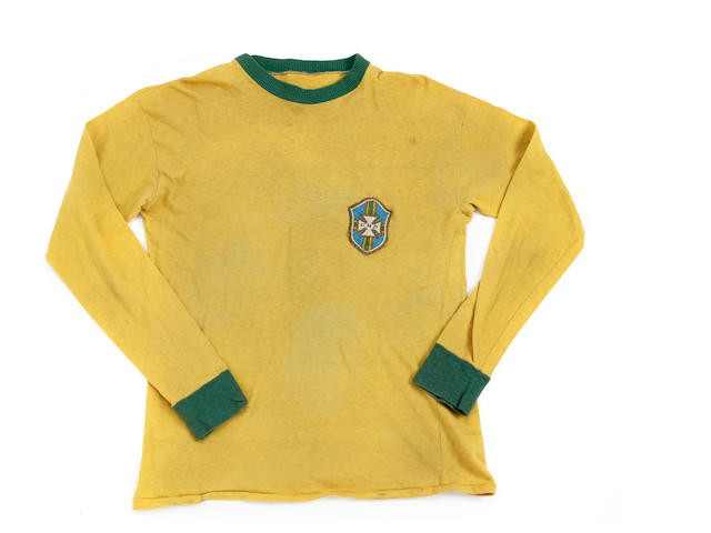 1969 Brazil v Columbia Pele match worn shirt