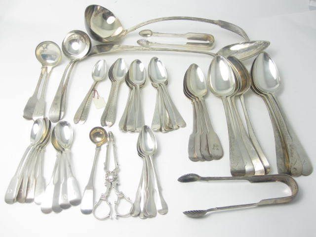 A collection of Scottish silver flatware  various makers and dates