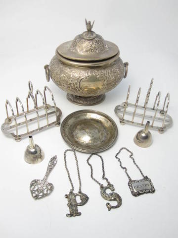 A collection of Scottish silver items various makers and dates