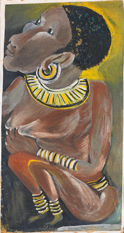 Gladys Mgudlandlu (South African, 1917-1979) African woman
