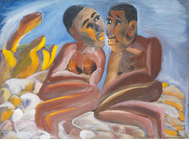 Gladys Mgudlandlu (South African, 1917-1979) The lovers