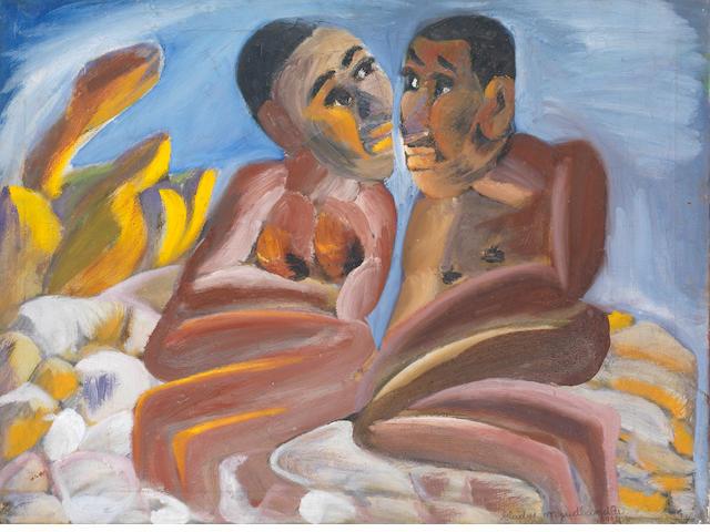 Gladys Mgudlandlu (South African, 1917-1979) The lovers