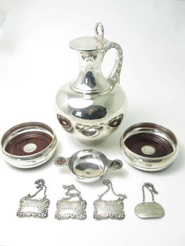 A Victorian silver ewer by Sissons & Sissons, London 1868