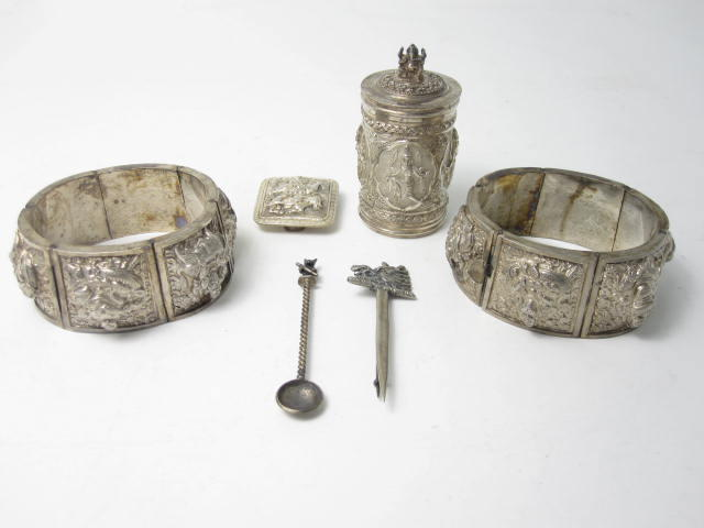 A small collection of Indian items unmarked