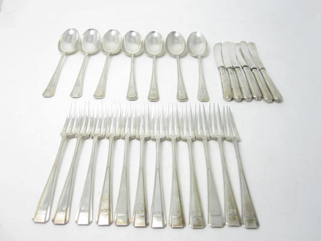 A collection of silver flatware various makers and dates
