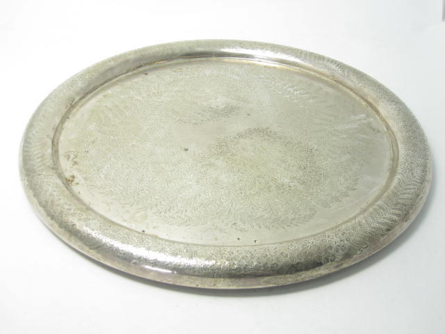 A Victorian silver tray by Martin Hall & Co, London 1889