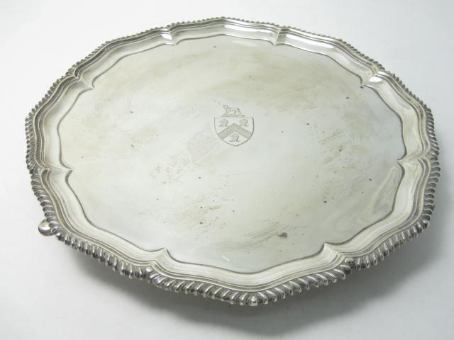 A silver salver by Hawksworth, Eyre & Co Ltd, London 1903