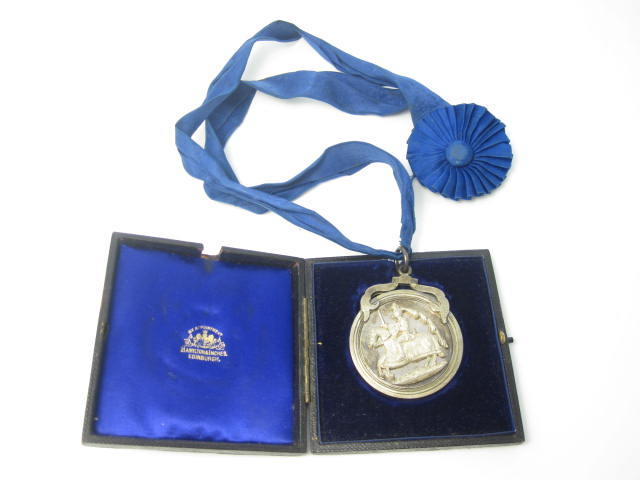 A silver presentation medal by Hamilton & Inches, Edinburgh 1898