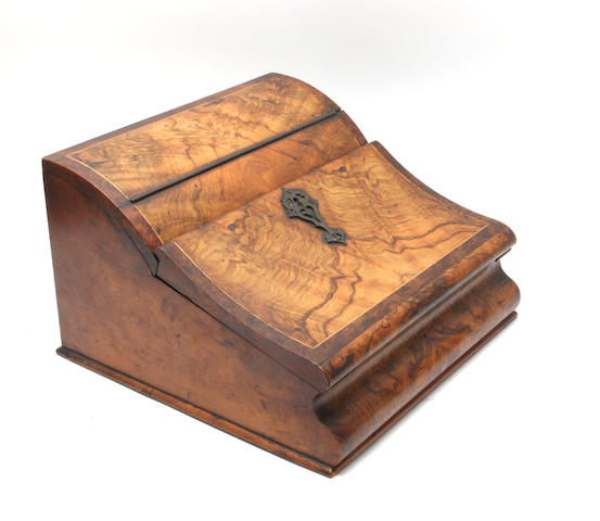 A Victorian walnut writing slope