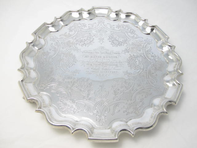 A William IV silver salver by James McKay, Edinburgh 1837
