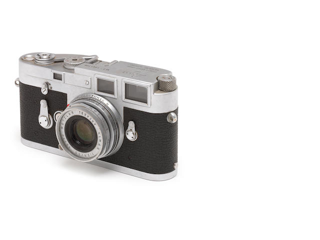 A Leica M3 No. 1057106 with 50mm f2.8 Elmar lens no 1698209.
