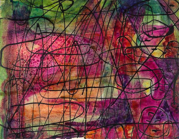 Fahrelnissa Zeid (Turkish, 1901-91) Five abstract compositions (5)