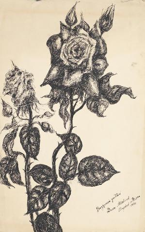 Fahrelnissa Zeid (Turkish, 1901-91) Roses in the garden (4)