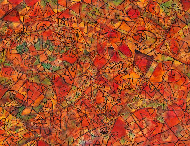 Fahrelnissa Zeid (Turkish, 1901-91) Three Abstracts (3)