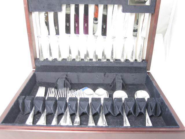 A part modern silver canteen of cutlery by Butler, Sheffield modern