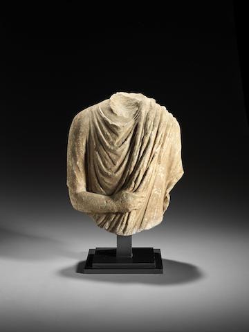 A Roman marble togatus bust