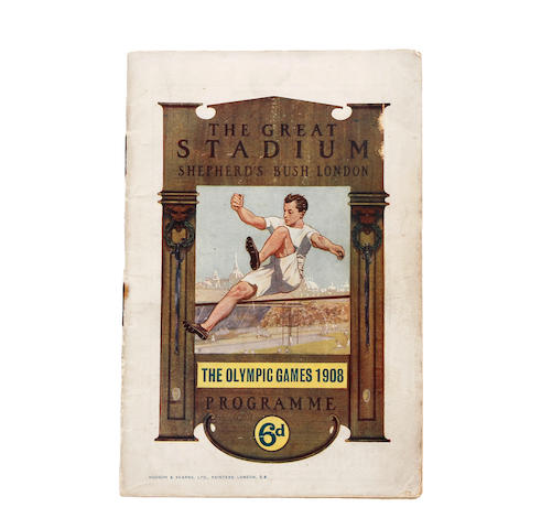 1908 Olympic games programme - 11th day