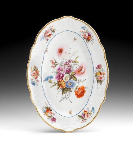 A rare Nantgarw oval dish, circa 1818-20