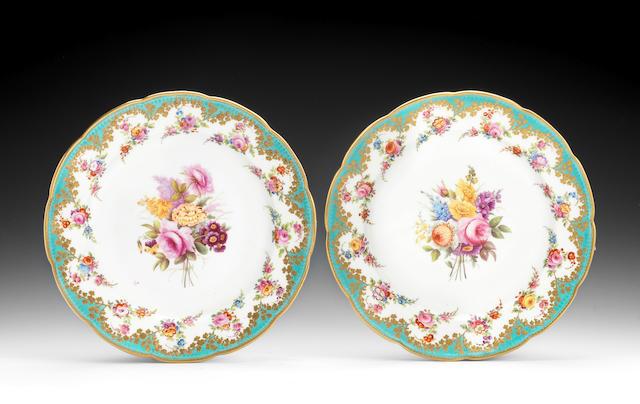 A pair of Nantgarw plates, circa 1818-20