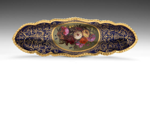A fine Flight, Barr and Barr pen tray possibly by Samuel Astles, circa 1825
