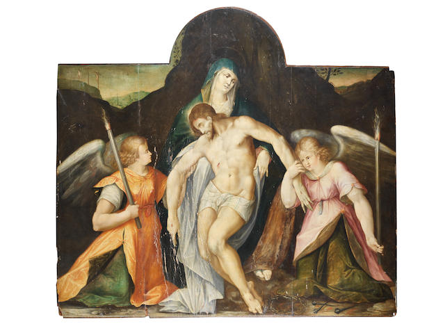 Prague School, circa 1580 Pietà