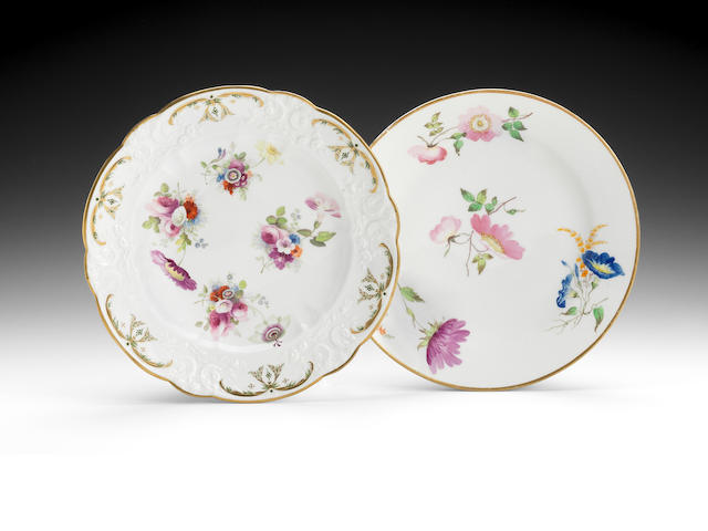 Two Swansea plates, circa 1815-17
