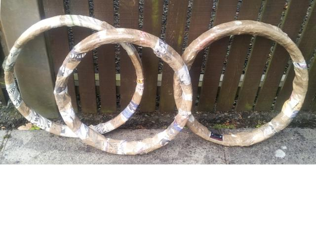 Two Vincent wheel rims,