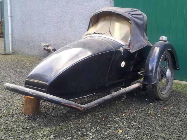 A Blacknell single-seat sidecar,