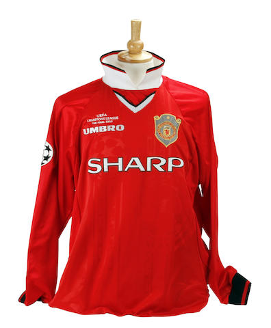 1999 Dwight Yorke Manchester United Champions League final spare shirt