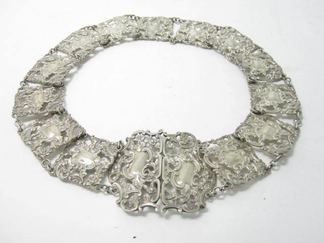 An early 20th century silver nurses belt by E.S Barnsley & Co, Birmingham 1903