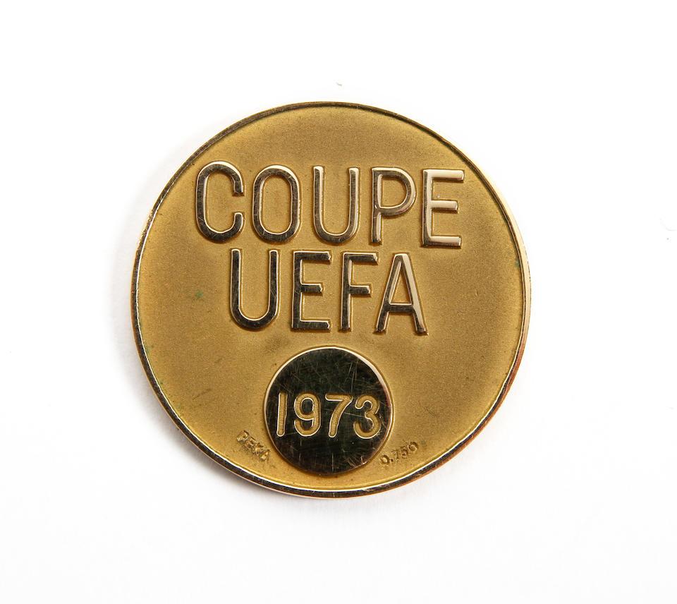 1973 U.E.F.A. Cup winners medal awarded to Phil Boersma